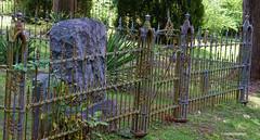 Ornate and Chiseled (creepingvinesimages) Tags: cemetery outdoors virginia nikon fences headstones historic ornate tombstones maplewood topaz gordonsville d7000 pse11