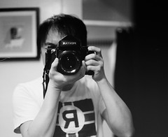 With 67! (masamonster) Tags: pentax kodak tmax 400 67 selfie 105mm f24