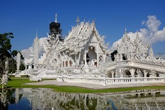 White temple (Julien Falissard) Tags: world voyage travel white black art nature temple country religion culture chiang rai tourisme thailande 2015 ivoire dmon