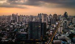 Bangkok Dusk (SuperG82) Tags: sunset rooftop cityscape bangkok marriothotel