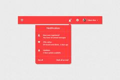 Notification Dropdown PSD (msfreebranders) Tags: free dropdown notification branders