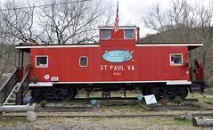 St. Paul, Virginia (1 of 6) (Bob McGilvray Jr.) Tags: railroad red train private virginia nw steel tracks stpaul caboose business va cupola norfolkwestern