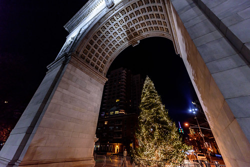 Christmas at New York's Washington Square Park