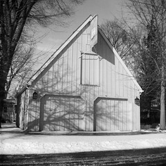 Shadowplay (Georgie_grrl) Tags: christmascottagechoir choir friends friendship social music princeedwardcounty lakeontario winter blackandwhite monochrome browniehawkeye vintage mediumformat squareformat itshiptobesquare explore