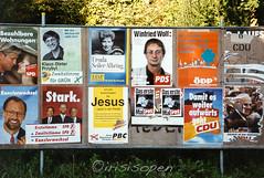 Habe ich was verpasst...--(( # 008 # Nikon F4s Kodak Ektar100 - 1994 (irisisopen ☼f/8☀︎∑≦light) Tags: werbung politik nikon deutschland germany analog film farbe irisisopen