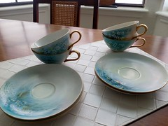 Cups (Livdollcity) Tags: cup cups antique forget me nots flower flowers blue