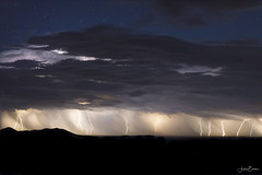 Beyond Blue (Andrea_Evans) Tags: storm weather cloud rain thunder lightning nightscape landscape therebeastormabrewin