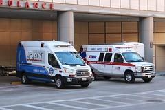 Ambulances (So Cal Metro) Tags: ambulance paramedic emt ems rescue la losangeles ford eseries econoline van e350 amr americanmedicalresponse westwood ucla uclamedicalcenter uclahospital pnr pnrambulance transit fordtransit