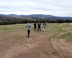 010 Starting Across The Muddy Field (saschmitz_earthlink_net) Tags: 2017 california orienteering vasquezrocks aguadulce losangelescounty laoc losangelesorienteeringclub