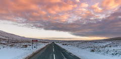 Just keep going... (Lee~Harris) Tags: road landscape openspaces sky morning sunrise roadtrip colour colours snow winter wintersun cold rural rugged uk england landscapes love beautiful cloud clouds driving outdoor nijon nikond300 teesdale beautifulexpression