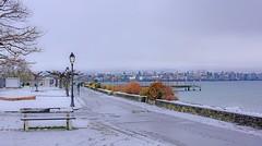 Quais de Morges (Diegojack) Tags: morges vaud suisse hiver quais port neige traitement douceur