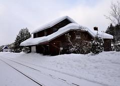 Mont Joli Sub (Michael Berry Railfan) Tags: routhierville qc montjolisub gaspesie trainstation