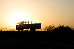 Truck Silhouette at Sunset (AdamCohn) Tags: sunset india adam silhouette truck cohn adamcohn wwwadamcohncom