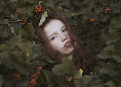 * (alexandra_bochkareva) Tags: red portrait art abandoned love girl angel vintage hair real gold ginger mood perfume skin russia head magic sensual redhead m42 hood serene neverland nymph helios sense girlish