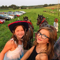 Hayride with Bella and Ruthie