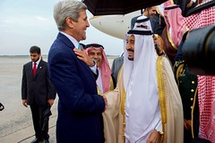 Secretary Kerry Chats With Saudi King Salman After He Arrived At Andrews Air Force Base Before Meeting With President Obama (U.S. Department of State) Tags: johnkerry saudiarabia andrewsairforcebase adelaljubeir kingsalman deputycrownprince deputycrownprincejohnkerry