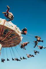 that time of year again (itawtitaw) Tags: above blue light sky color munich münchen bayern bavaria glow smooth bluesky carousel oktoberfest lookup clear gradient 24mm kettenkarussell canoneos5dii canon2470mm28ii