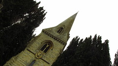 Church and Trees (Bouzz) Tags: trees sky tree church skies churches steeple stuff steeples