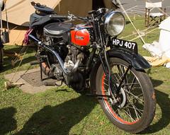Ariel Motorbike (Beth Hartle Photographs2013) Tags: duxford reenactment raf scramble dispersal homeguard wraf middlewallop 609sqndispersal 1940battleofbritainairshow airtrafficcontrolcaravan wrafdriver 1937vauxhallcar