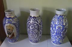 Ceramic Vases - Museum of Applied Art - Tashkent Uzbekistan (WanderingPJB) Tags: uzbekistan tashkent museumofappliedarts caramic vase timur blue decorative colour colourful colourfulworld cmwdblue silkroad centralasia 7dwf crazytuesdaytheme three smileonsaturday bluetiful happymondayblue