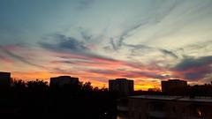 Farsta sunset (blondinrikard) Tags: sunset sky cloud clouds skies stockholm himmel solnedgng farsta moln hghus skyar himmeln sderfrort
