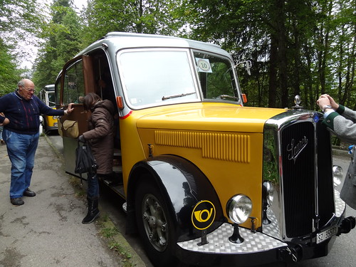 Saurer L4C on the Rossfeldrennen Historic Hill Climb (1)