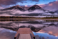 Sulphur Mountain in Mist, Vermillion Lake, Canada (chasingthelight10) Tags: travel mist canada photography landscapes events places things banffnationalpark canadianrockies vermilionlake