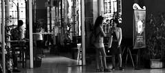Starbucks Coffee (mgkm photography) Tags: street urban blackandwhite bw blancoynegro portugal monochrome 50mm calle lisboa streetphotography gimp starbucks blackandwhitephotography urbanphotography shotwell lisboetas ƒ28 lisboanarua candidstreet nikonphotography opensourcephotography ilustrarportugal d7000 coffestreet
