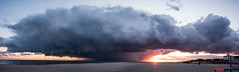Cape May Sunset (Nikographer [Jon]) Tags: sunset panorama cloud moon storm fall beach newjersey nikon october oct may nj cape capemay hdr 2015 nikographer d810 20151018d810021912