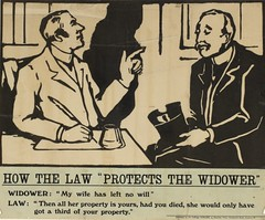 Suffrage campaigning: How The Law 'Protects The Widower1909