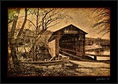 Fallasburg Covered Bridge (the Gallopping Geezer '4' million + views....) Tags: old bridge texture mi rural canon michigan country structure historic covered coveredbridge preserved geezer corel 2015 fallasburg fallasburgcoveredbridge