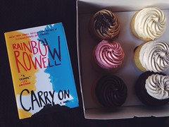 cupcakes and carry on (wordsofmyheart) Tags: reading cupcakes books carryon rainbowrowell bookstagram
