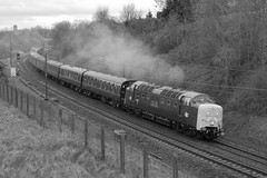 12-04-2014 55002 TKOYLI @ Newton Hall (steveporrett) Tags: 12042014 55002 the kings own yorkshire light infantry newton hall 52a tours deltic aberdonian 1z59 york aberdeen class 55 boat type 5 english electric coco