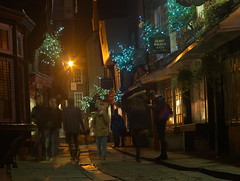 Christmas lights on the Shambles, York. (kyliepics) Tags: olympus e520 evolt520 om50mmf18 rawtherapee addedtogroups