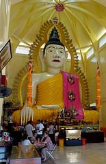 Big Thai Buddha (cowyeow) Tags: street travel art composition giant asian temple golden design big singapore asia buddha faith religion large culture belief buddhism indoor muni massive thai gaya littleindia decor sakya sakyamunibuddhagayatemple