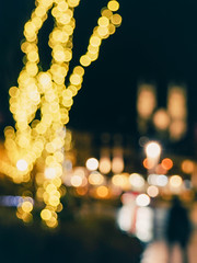 Christmas lights in the City - Downtown Guelph by night (ildikoannable) Tags: nightphotography colour church lights bokeh olympus christmaslights cityatnight citylight downtownguelph