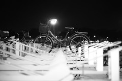 Solo (ah.b|ack) Tags: bw bicycle zeiss t 50mm stand bokeh sony solo wideopen f15 sonnar zm a7ii zeisscsonnart1550mmzm a7mk2