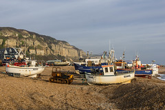 Beached Fishing Boats, Hastings (Peter Cook UK) Tags: hastings beach fishing bulldozer sussex boat