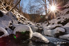 December Sun (Petar Milev) Tags: winter mountain river snow ice stone rocks white trees forest woods outdoor adventure trip cold sun rays spark sunset sunrise park walk sky blue clouds canon photo shot lonely car december bulgaria blagoevgrad rila bodrost kartal bistrica reservation