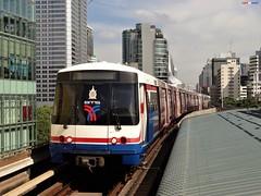 Skytrain (firedmanager) Tags: train tren trena skytrain bts bangkok railtransport metro thailand