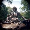 (david sine) Tags: alice aliceinwonderland statue bronze trees centralpark park stuff things newyork manhattan nyc newyorkcity holga holga120n plastic toy camera mediumformat 120 color kodak portra film scannednegative