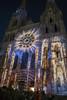 Cathedrale Chartres (arnaud.abrial) Tags: france europe chartres cathedrale monument catholique couleur color lumiere fuji xpro1 xf18mm nuit fete lumière festival nocturne centre eure loir eurelien fond noir bâtiment architecture horizon brillant géométrique