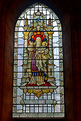 Stained glass window (James O'Hanlon) Tags: chester cheshire john baptist johnthebaptist church cathedral ruins norman medieval effigy stained glass chapel saint st
