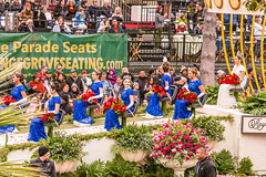 Queen and Court (Thad Zajdowicz) Tags: roseparade 2017 pasadena california people women females float festive queen court color gowns tiaras zajdowicz street urban city canon eos 5d3 5dmarkiiidslr digital availablelight lightroom outdoor outside