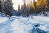 Cold start (kubaszymik) Tags: winter river cold frozen freeze canon forest trees morning dawn sunrise beskidy poland żywiec vsco hdr january 2017 travel landscape winterscape skating ice