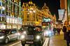 Brompton Road Christmas (Filotte) Tags: london harrods bromptonroad taxi redbus knightsbridge a6000 sel1670z christmas