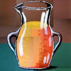 Vincent Van Gogh-Vase with Orange Juice (Acrylic Painting) (TobyFree.com) Tags: vase orangejuice acrylic juice abstract art orange vangogh vincentvangogh painting paintings paint