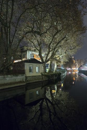 Mühlenkanal bei Nacht