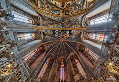 Sainte cecile @ Albi (brenac photography) Tags: brenac brenacphotography d810 france nikon nikond810 wow albi occitanie fra cathedrale church ceiling paintings vitraux samyang hdr oloneo saintececile brique bricks century 13th
