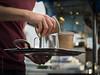 Morning coffee at Brendan's Café on the bridge (Petra Ries Images) Tags: café caféonthegoodwillbridge brisbane brisbanecity goodwillbridge serve servieren kaffee frühstückskaffee frühstück breakfast drink latte cafélatte pentax11050mmf28